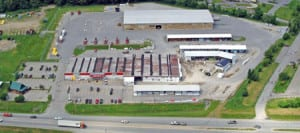Bangor store from above