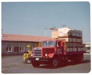 Old truck loaded