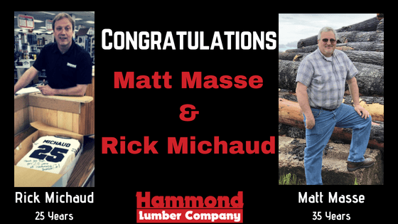 Matt Masse Rick Michaud Work anniversary