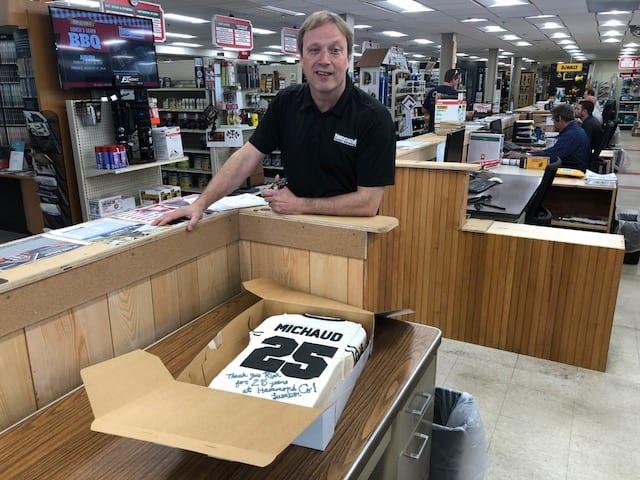 Hammond Lumber Company Rick Michaud 25 Anniversary