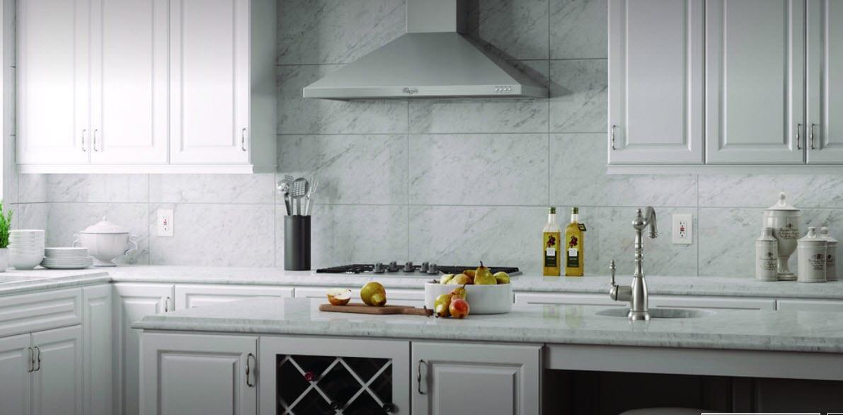 Stone Slab kitchen Backsplash Hammond Lumber