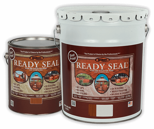 Ready Seal Stain buckets and gallon Hammond Lumber
