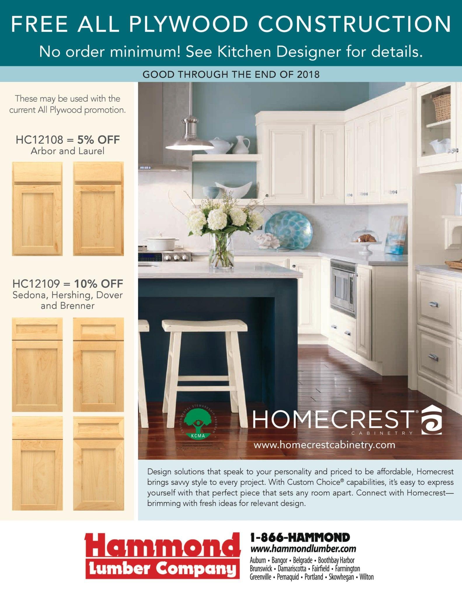 Homecrest Cabinetry Special Hammond Lumber