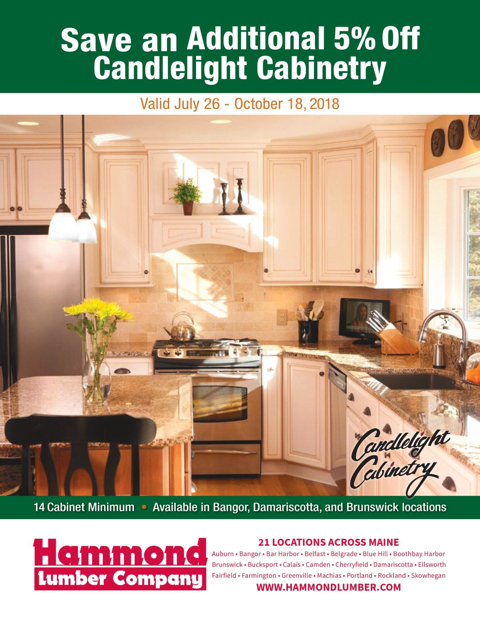 Candlelight Cabinetry Savings Flyer Hammond Lumber
