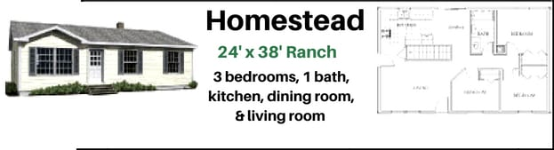 The Homestead Home package by Hammond Lumber Company