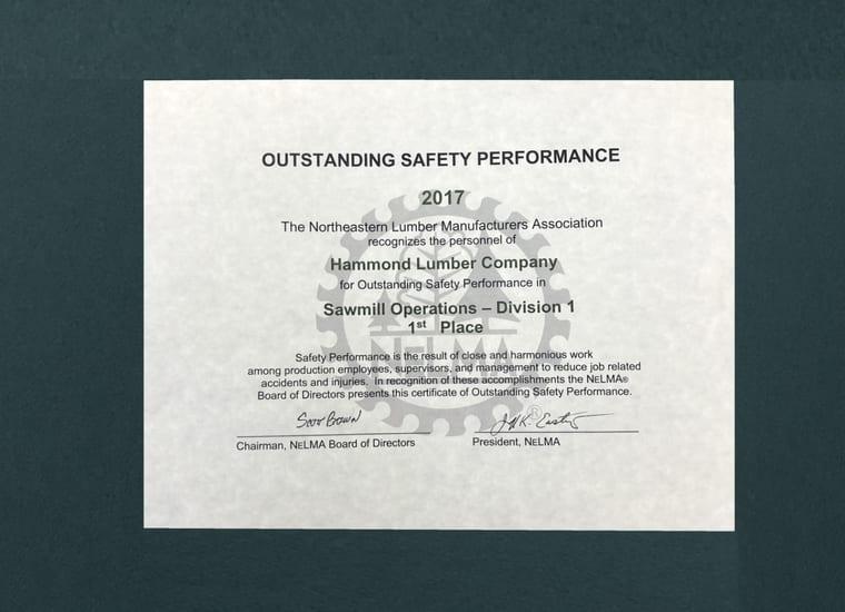 NELMA Hammond Lumber Sawmill Award