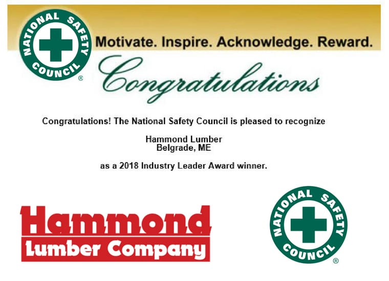 NSA Industry Leader Award Hammond Lumber