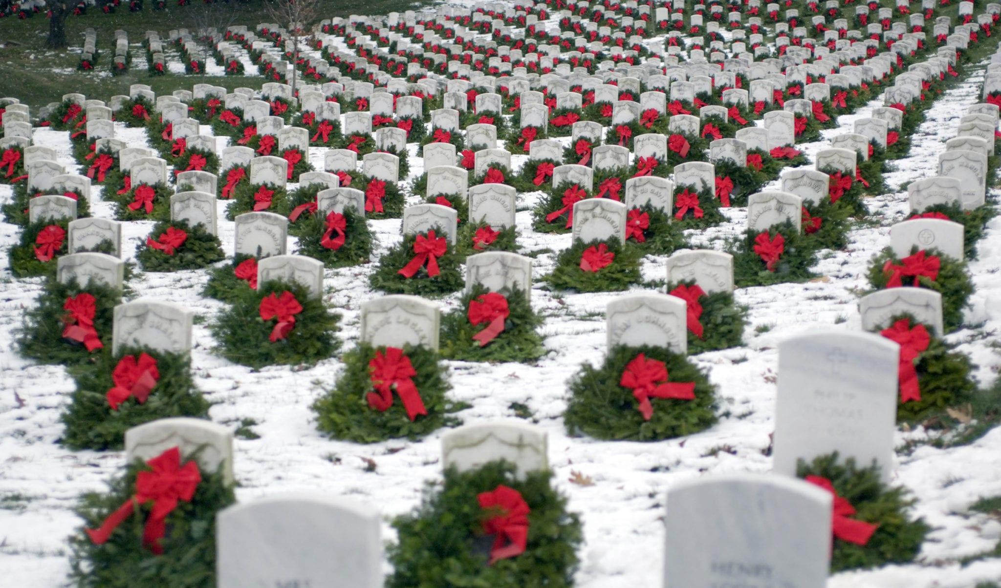 Wreaths Across America On Headstones
