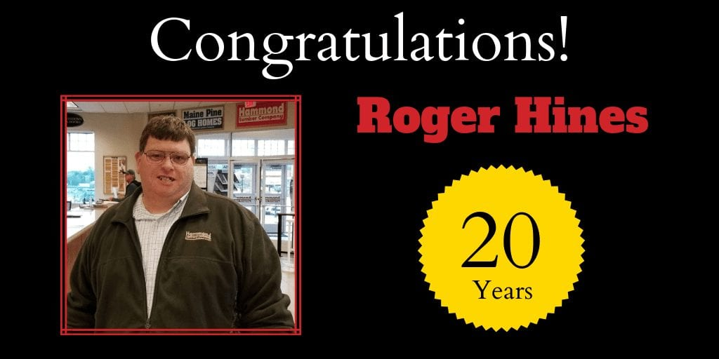 Roger Hines 20 Years