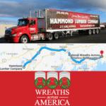 Wreaths Across America Hammond Lumber Chip Trailer