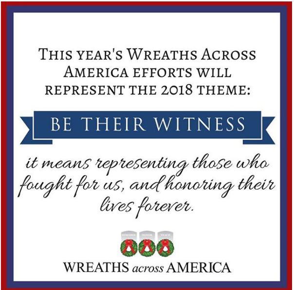 Wreaths Across America Theme 2018