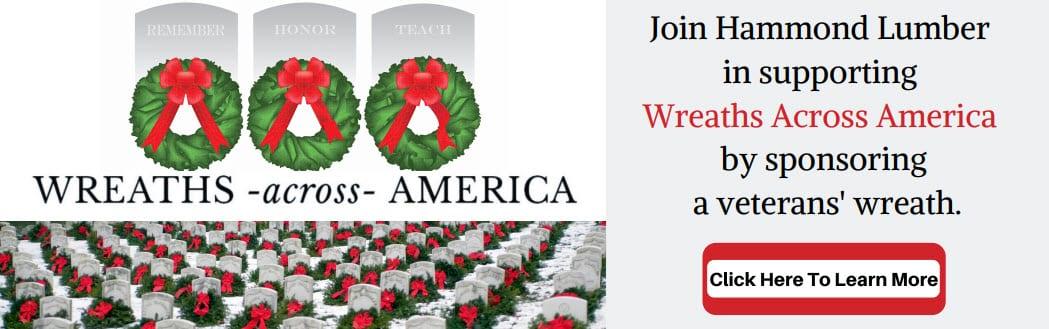 Hammond Lumber Wreaths Across America