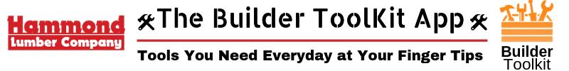Builder Toolkit App Hammond Lumber