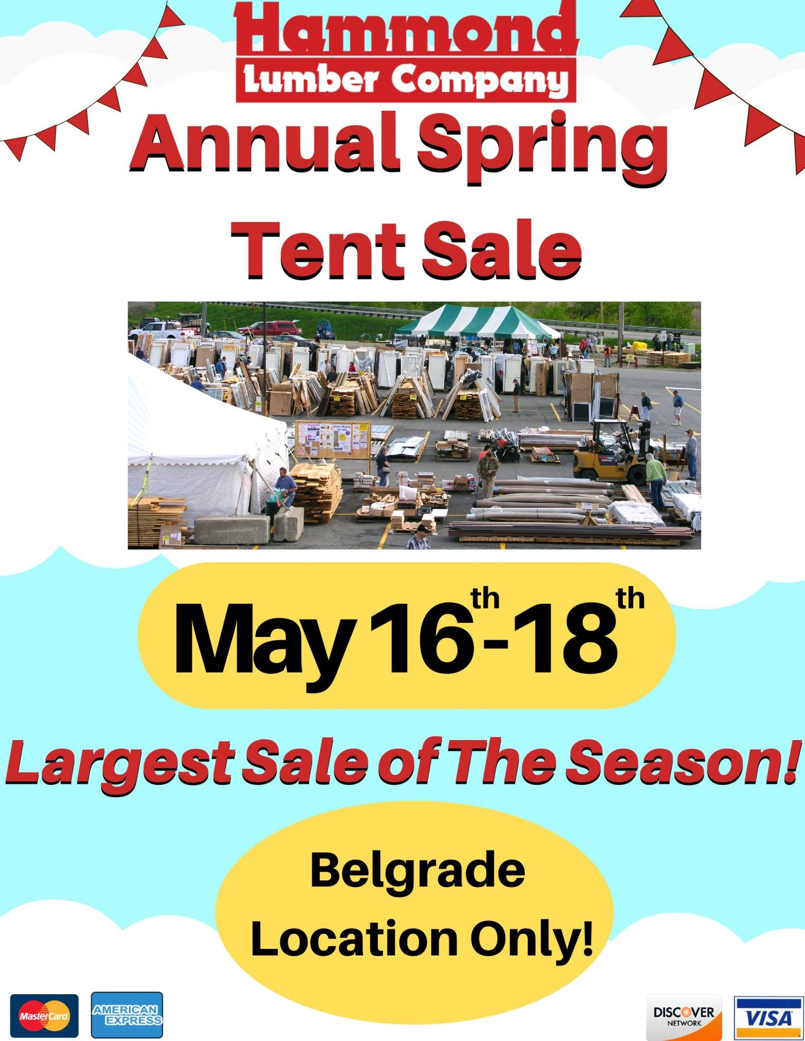 Annual Spring Tent Sale