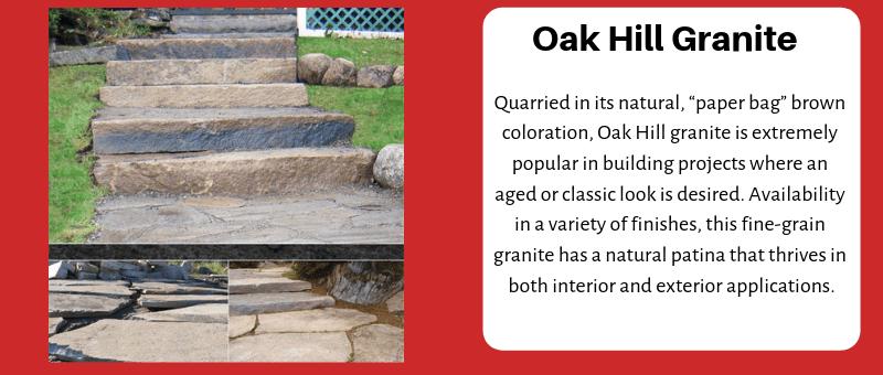 JC Stone Steps & Slabs Oak Hill Granite