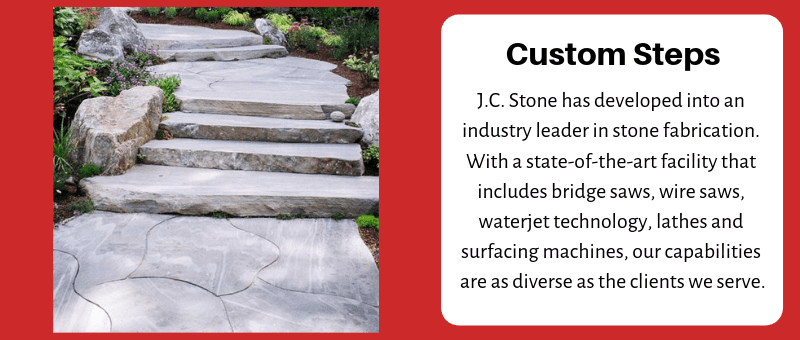 JC Stone Steps & Slabs Custom Steps or Slab