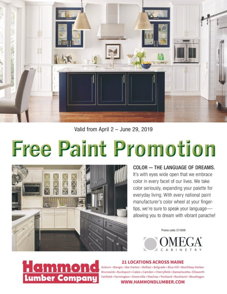 Omega Cabinetry Free Paint Promotion Hammond Lumber Company