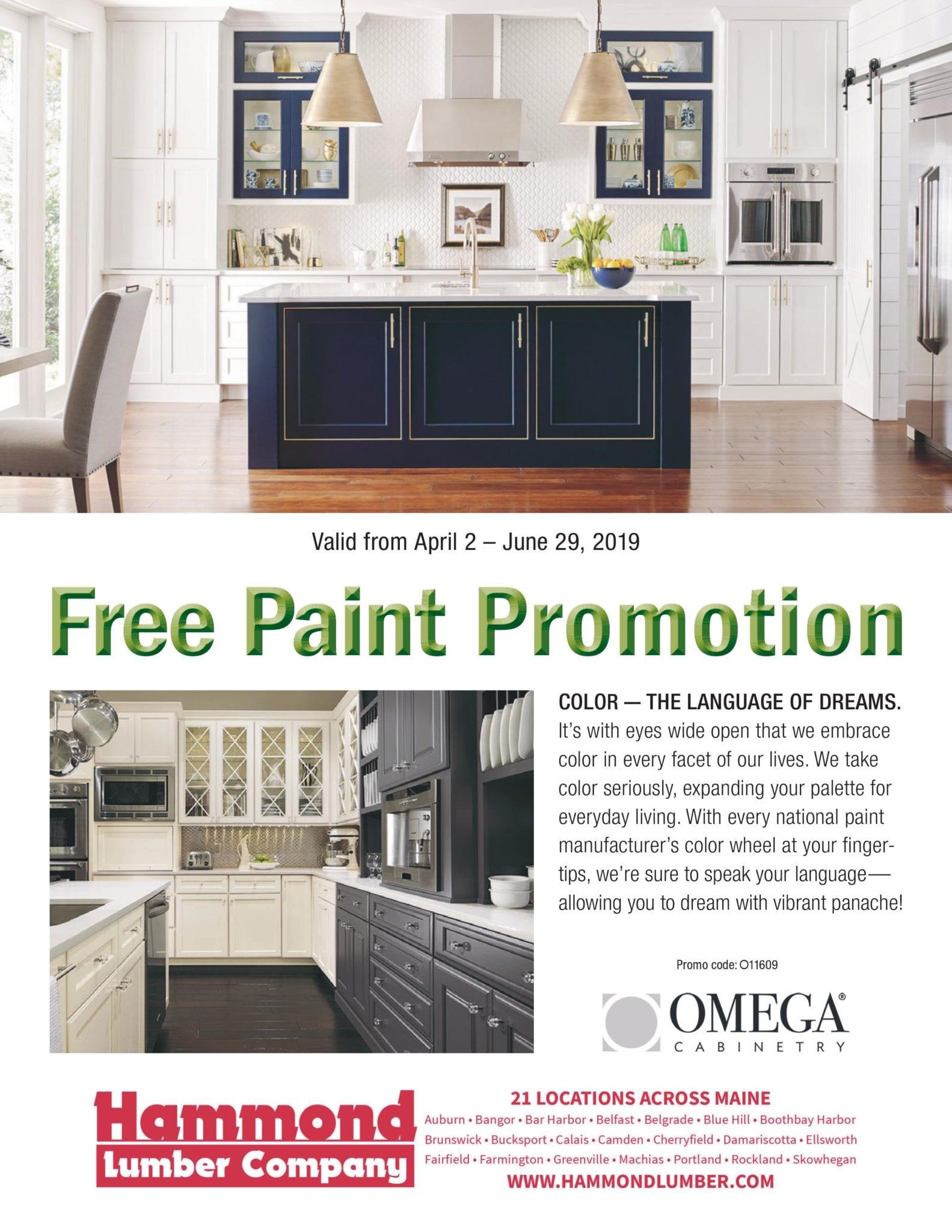 Omega Free Paint Promotion At Hammond Lumber Company Hammond