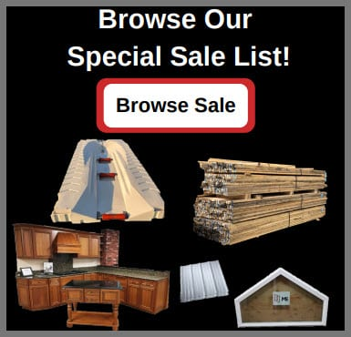 Special Sales List Hammond Lumber Company
