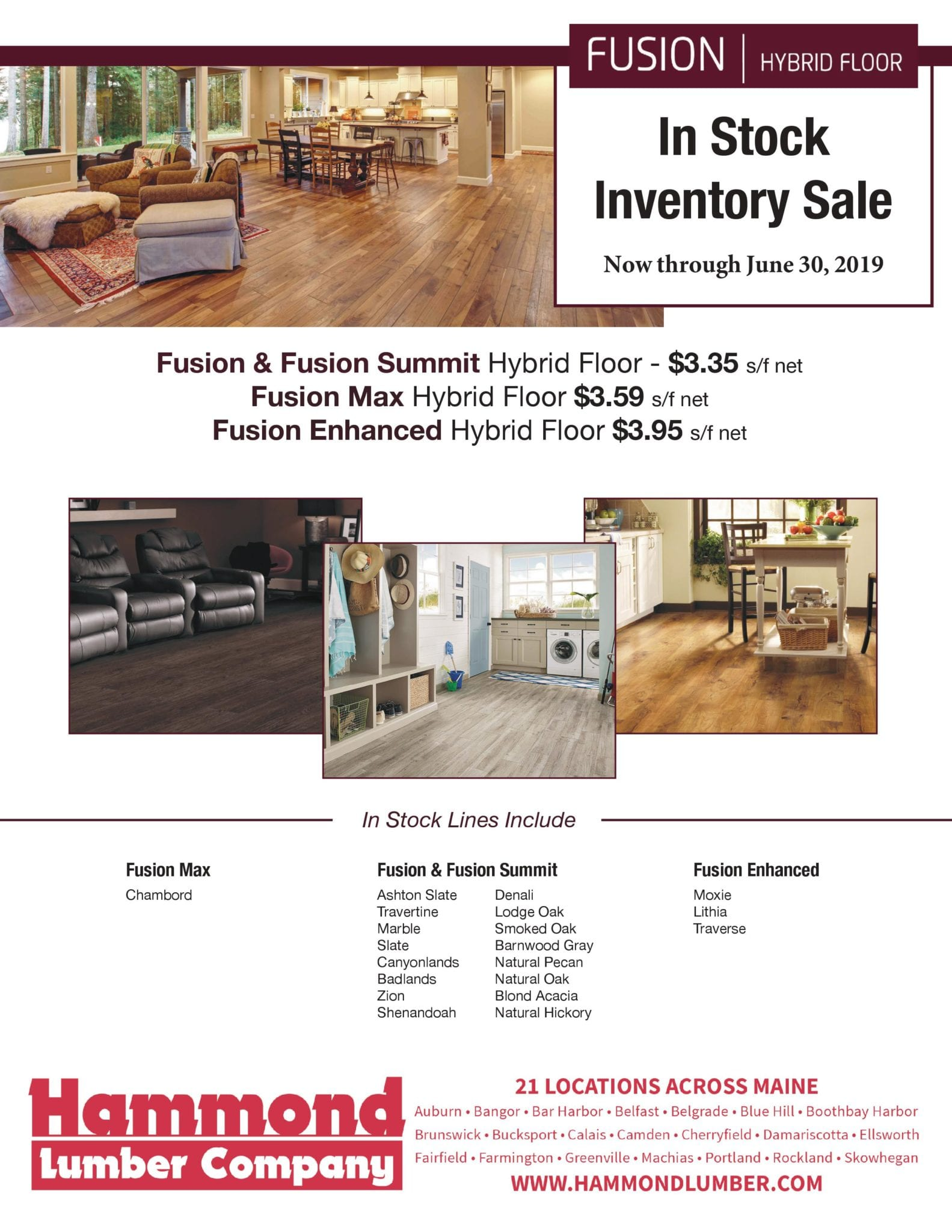 Fusion In Stock Inventory Sale Hammond Lumber Company