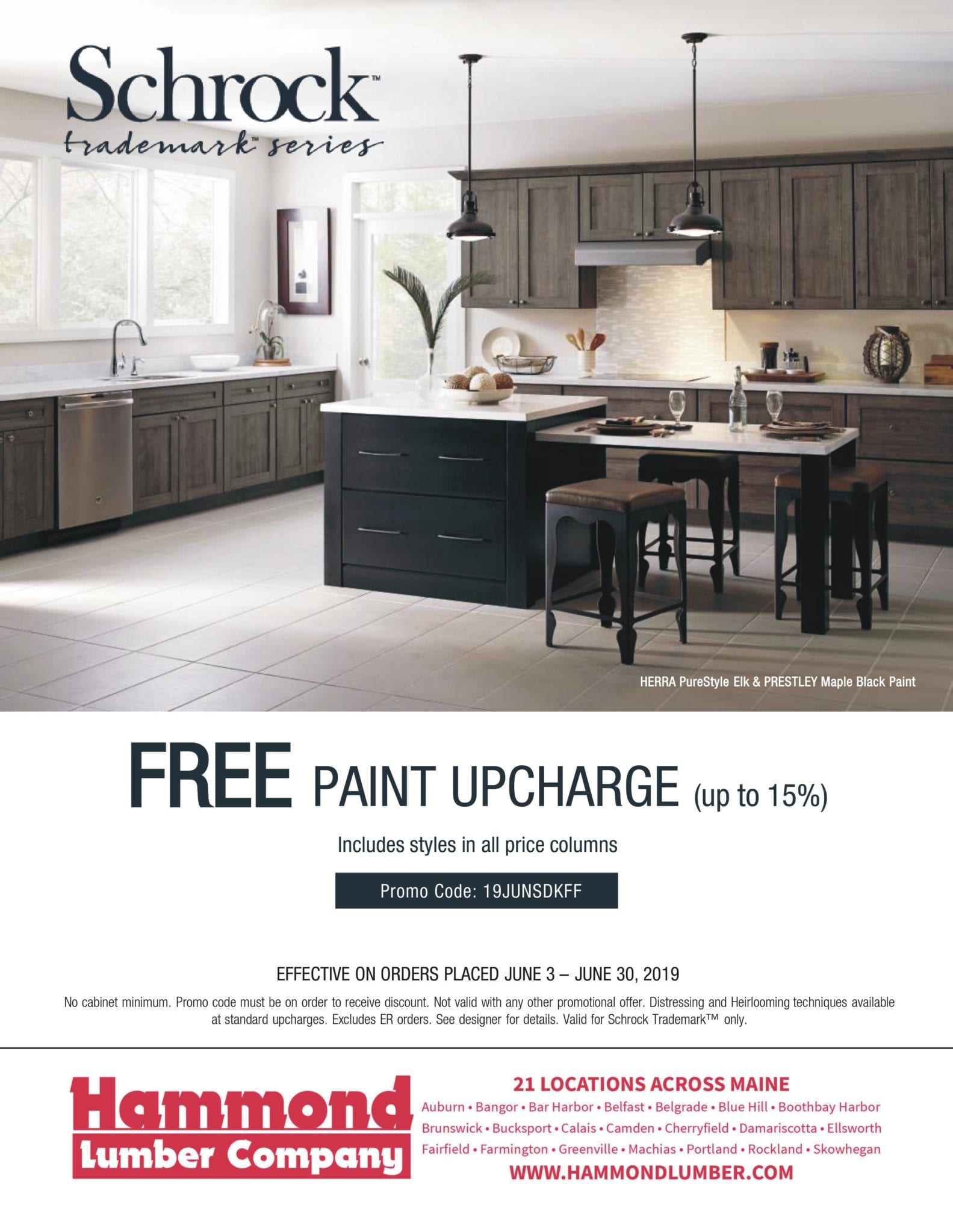 Schrock Trademark Series Free Paint Upcharge Hammond Lumber Company Offer