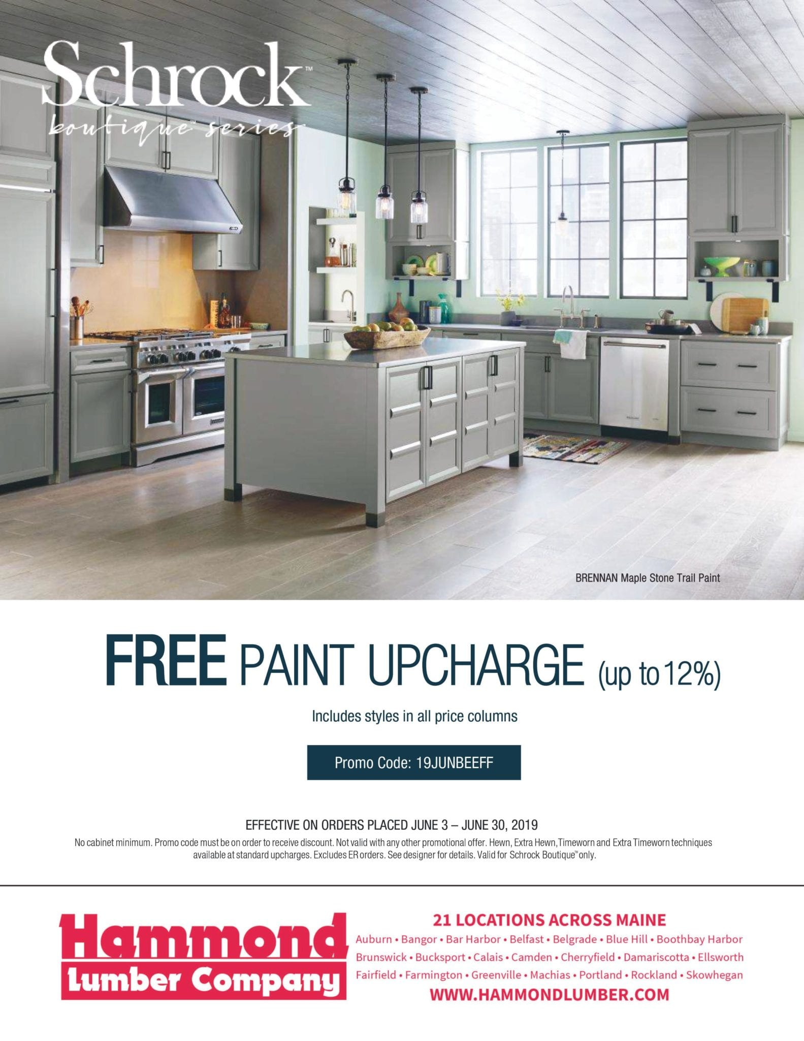Shcrock Boutique Series Free Paint Upcharge Offer