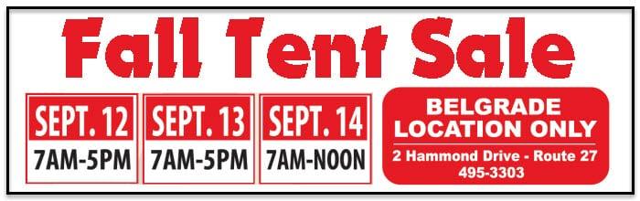2019 Fall Tent Sale