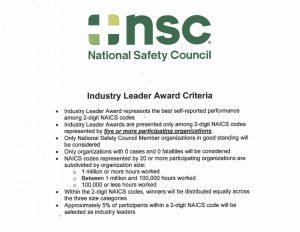 Industry Leader Award Criteria
