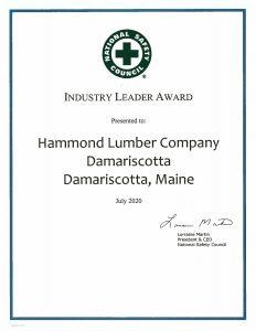 Damariscotta 2020 Industry Leader Award