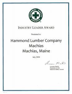 Machias 2020 Industry Leader Award